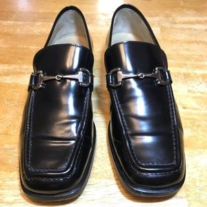 Gucci horsebit loafers in black leather size 37